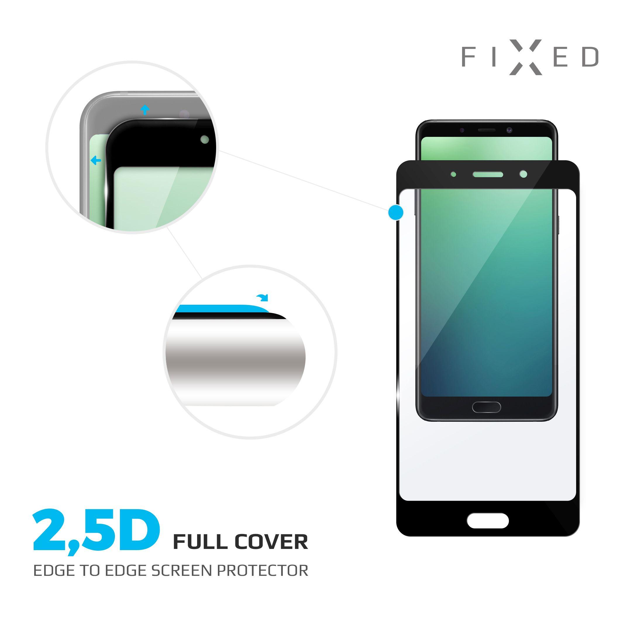 Ochranné tvrzené sklo FIXED Full-Cover pro Xiaomi Mi8, přes celý displej, černé, 0.33 mm