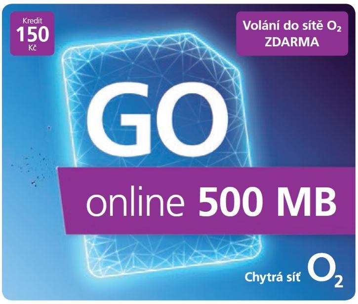 Předplacená SIM karta O2 s kreditem 150 Kč a 500 MB dat zdarma