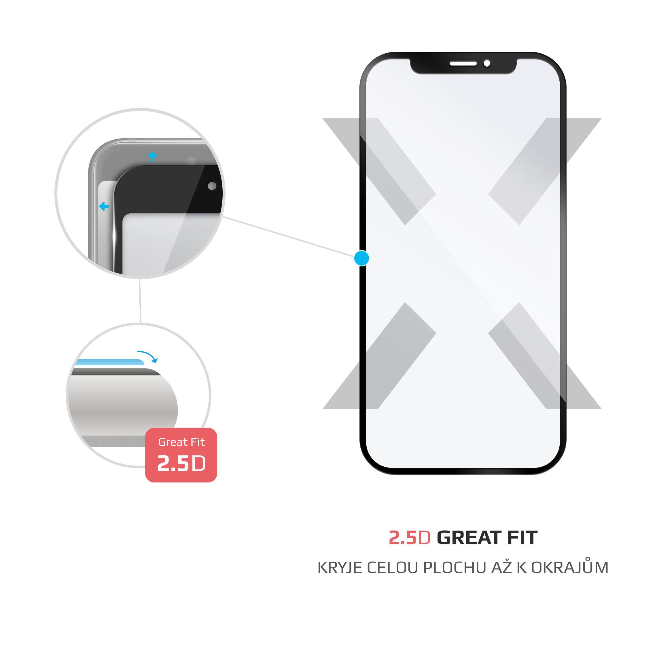 Ochranné tvrzené sklo FIXED Full-Cover pro Vodafone Smart X9, přes celý displej, černé, 0.33 mm
