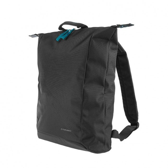 """Extra tenký batoh Tucano SMILZO, vyrobený z high-tech materiálu, určený pro notebooky do 14"""", černý"""
