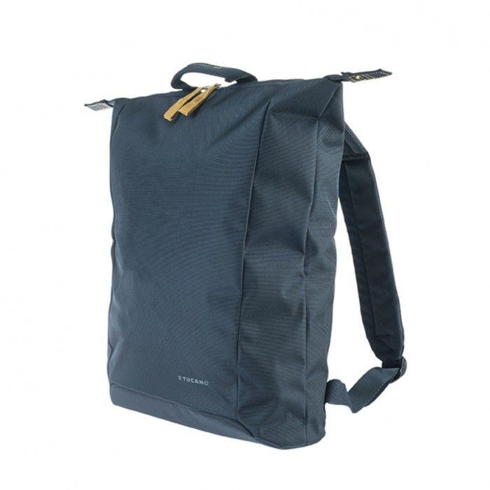 """Extratenký batoh Tucano SMILZO, vyrobený z high-tech materiálu, určený pro notebooky do 14"""", modrý"""