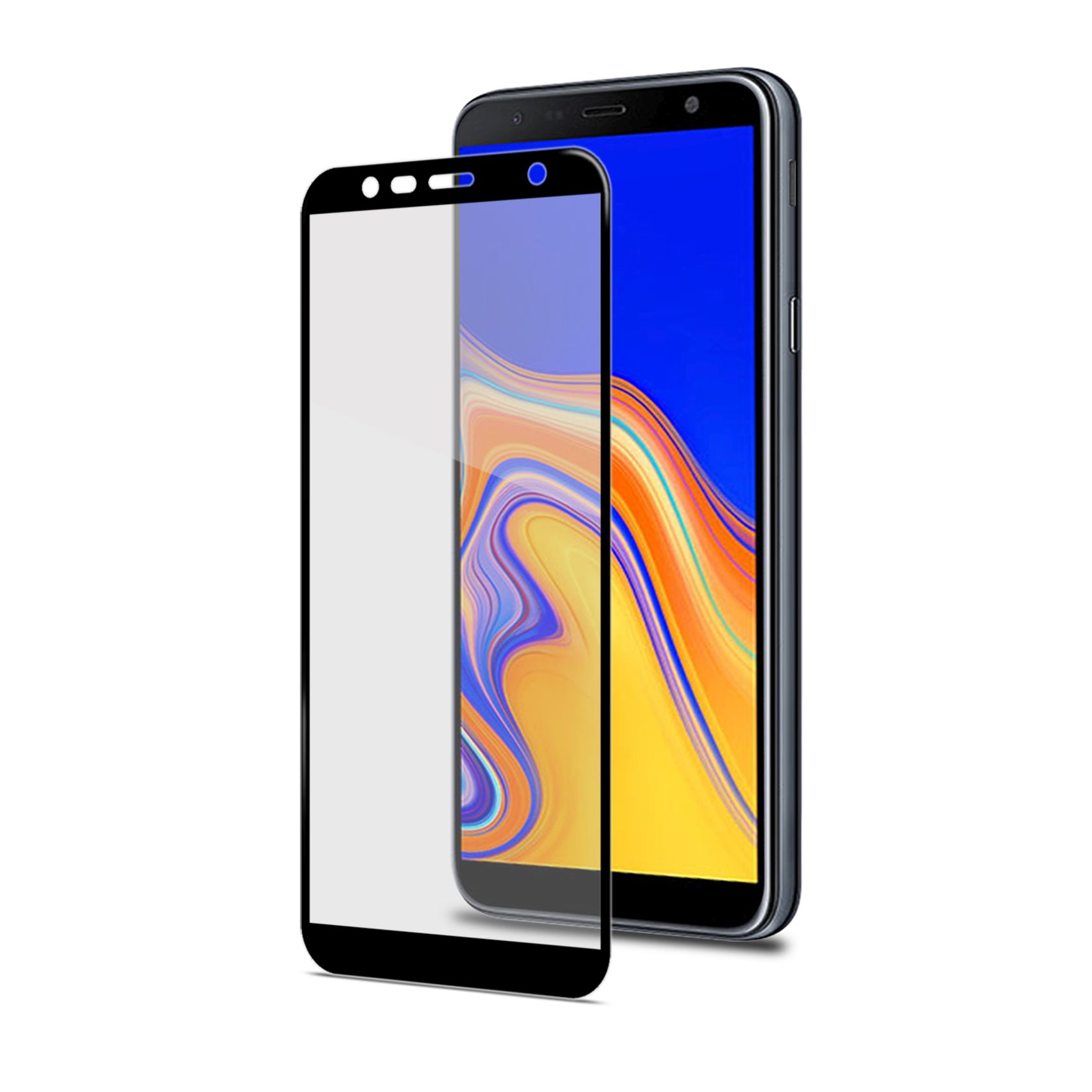 Ochranné tvrzené sklo CELLY Full Glass pro Samsung Galaxy J4+ , černé