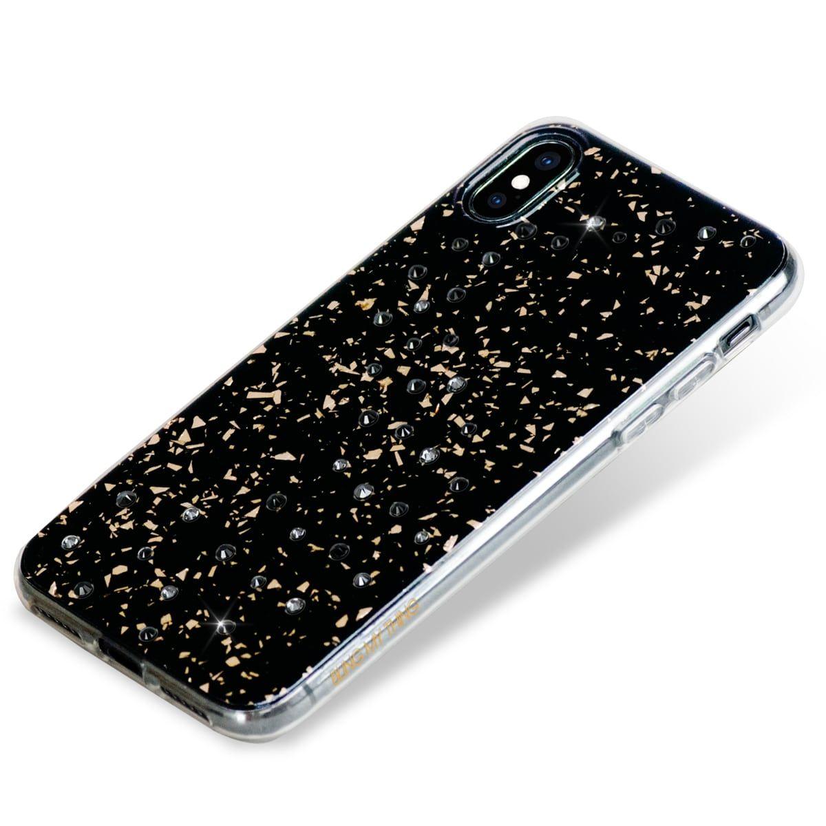 Zadní kryt Bling My Thing Milky Way Starry Night pro Apple iPhone XS Max, krystaly Swarovski®,černý