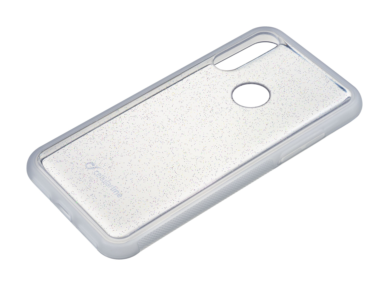Adhezivní zadní kryt Cellularline SELFIE CASE pro Huawei P30 Pro, transparentní