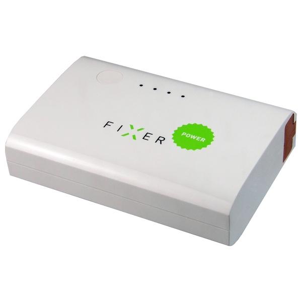 Záložní baterie FIXER Powerbank s konektorem microUSB, 4400 mAh, 1A, bílá