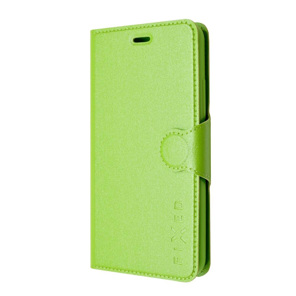 Pouzdro typu kniha FIXED s gelovou vaničkou pro Huawei Y6, zelené