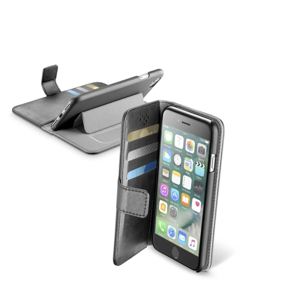 Pouzdro typu kniha CellularLine Book Agenda pro Apple iPhone 7/8/SE (2020), černé