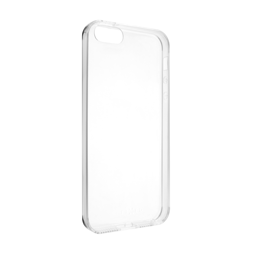 Ultratenké TPU gelové pouzdro FIXED Skin pro Apple iPhone 5/5S/SE, 0,6 mm, čiré