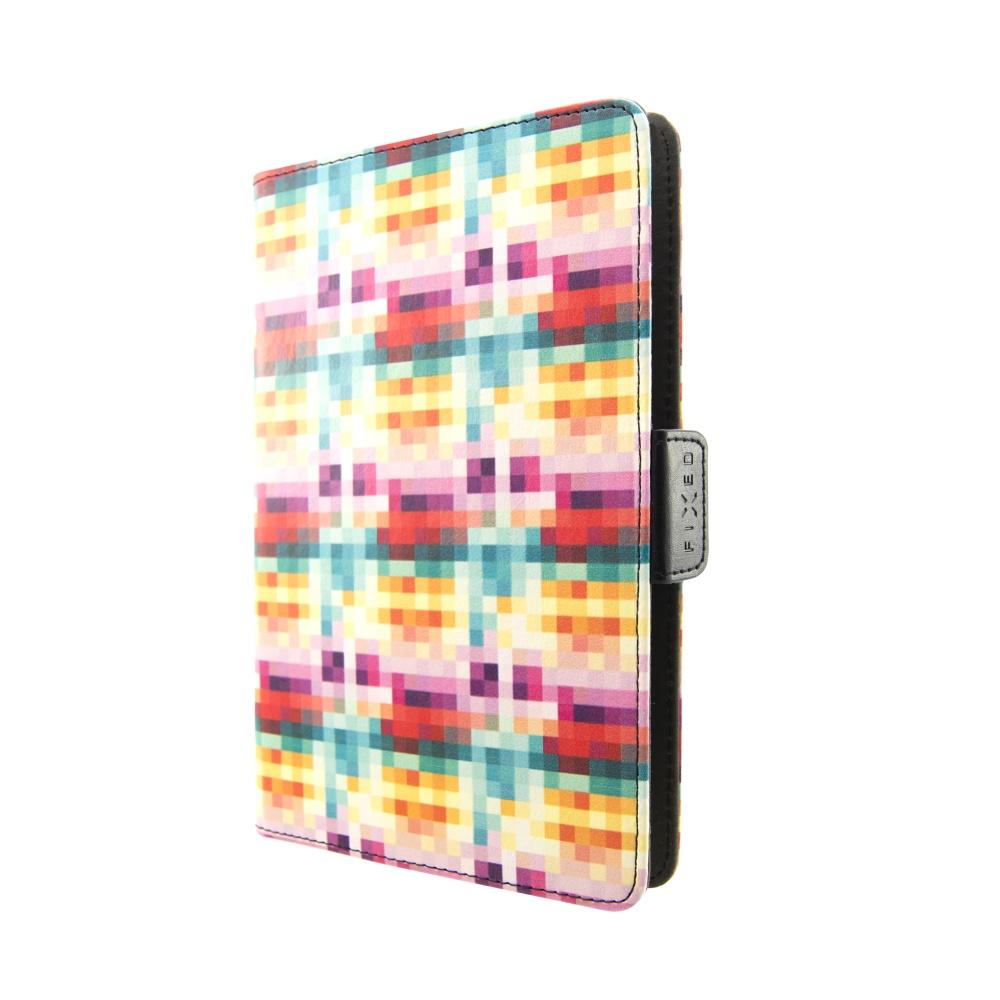 """Pouzdro pro 7-8"""" tablety FIXED Novel Tab se stojánkem, PU kůže, motiv Dice"""