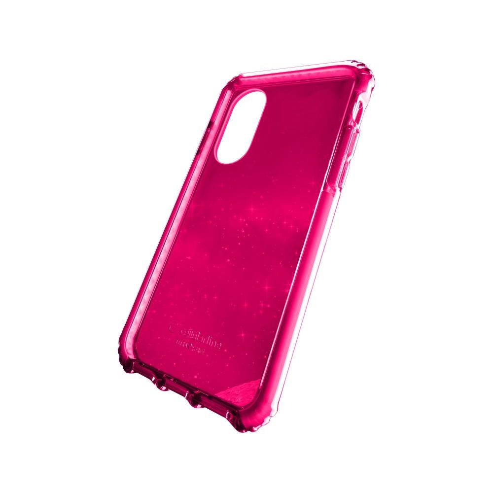 Ultra ochranné pouzdro Cellularline Tetra Force Shock-Twist pro Apple iPhone X/XS, 2 stupně ochrany, fuchsiové