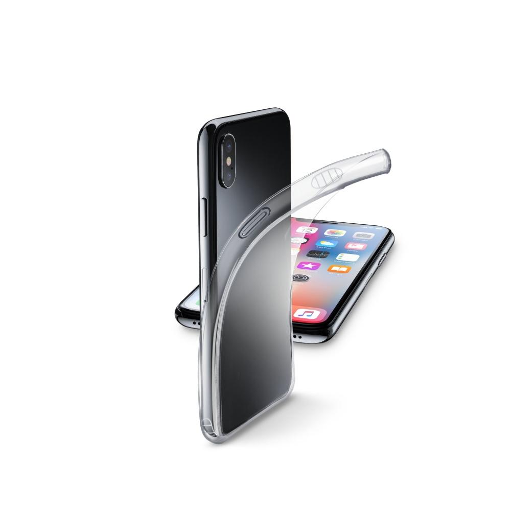 Extratenký zadní kryt CellularLine Fine pro Apple iPhone X/XS, bezbarvý