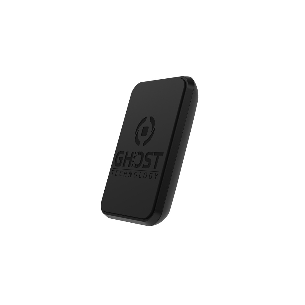 Univerzální magnetický držák CELLY GHOSTFIXXL pro mobilní telefony, adhezivní povrch, vel. XL, černý