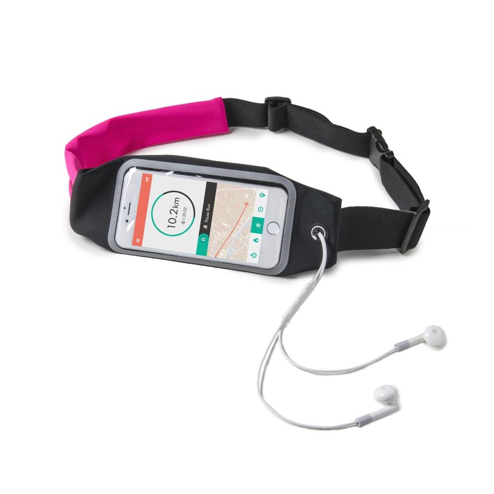 """Sportovní neoprénové pouzdro CELLY RUNBDUO, velikost XL pro telefony do 5"""", růžové"""