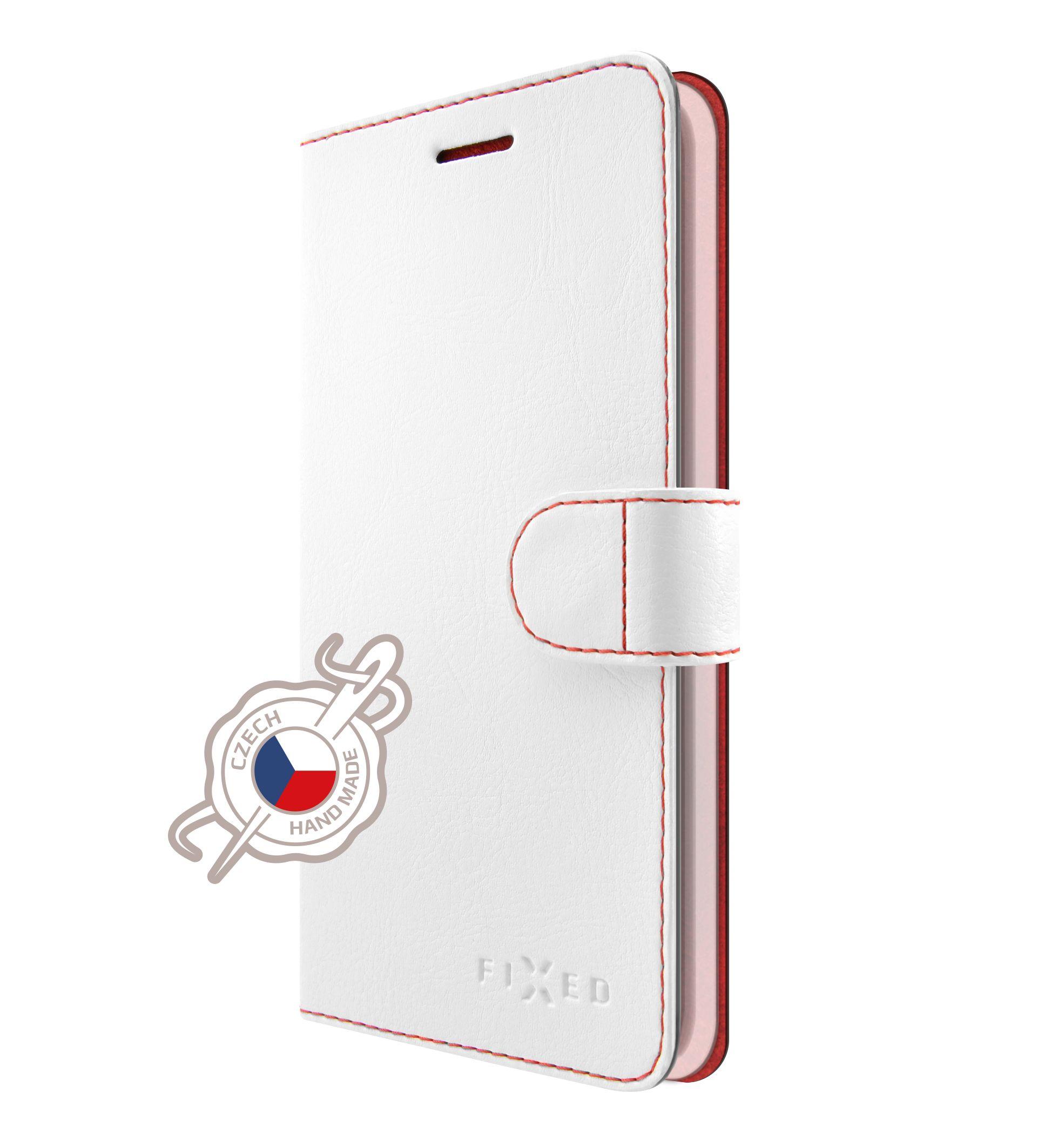 Pouzdro typu kniha FIXED FIT pro Lenovo K8 Note, bílé