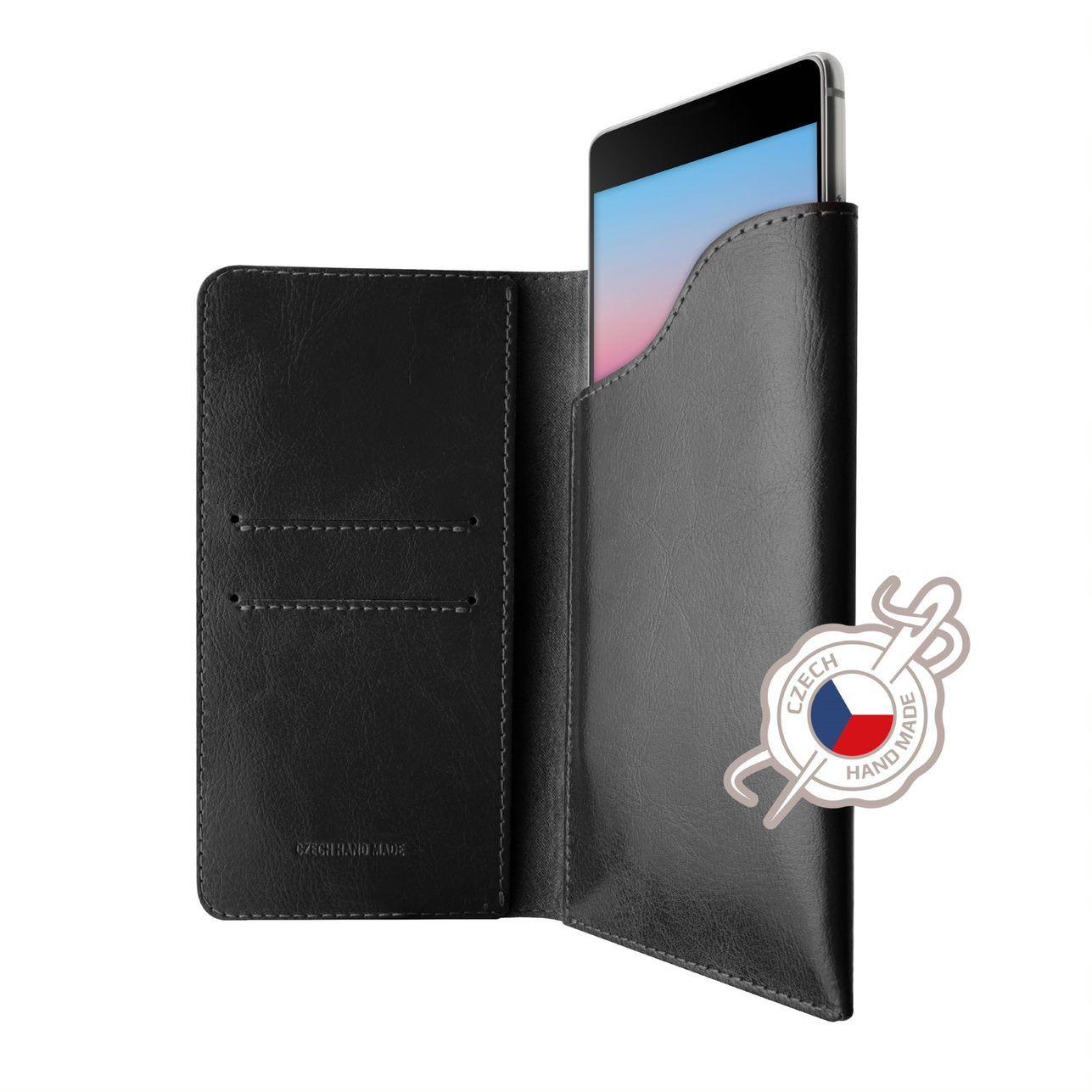 Kožené pouzdro FIXED Pocket Book pro Apple iPhone 6/6S/7/8/SE (2020), černé