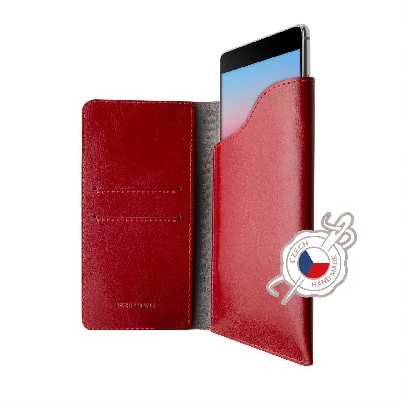 Kožené pouzdro FIXED Pocket Book pro Apple iPhone 6/6S/7/8/SE (2020), červené