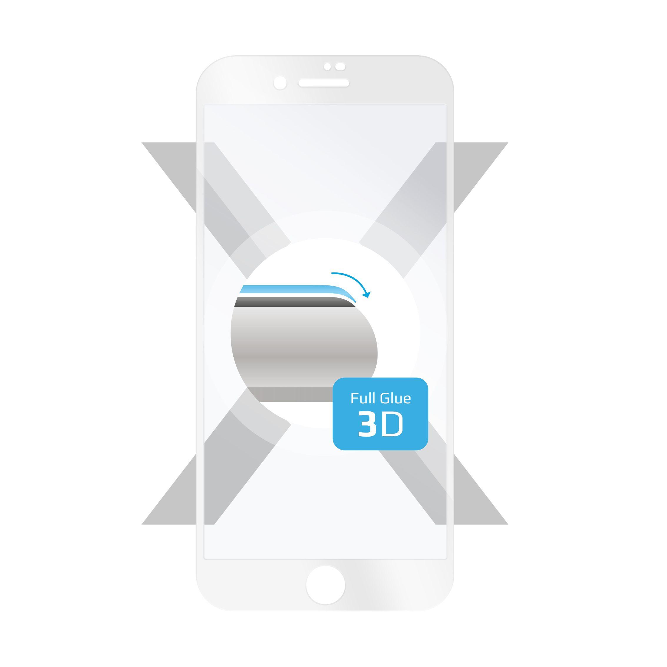 Ochranné tvrzené sklo FIXED 3D Full-Cover pro Apple iPhone 7/8/SE (2020), s lepením přes celý displej, bílé, 0.33 mm
