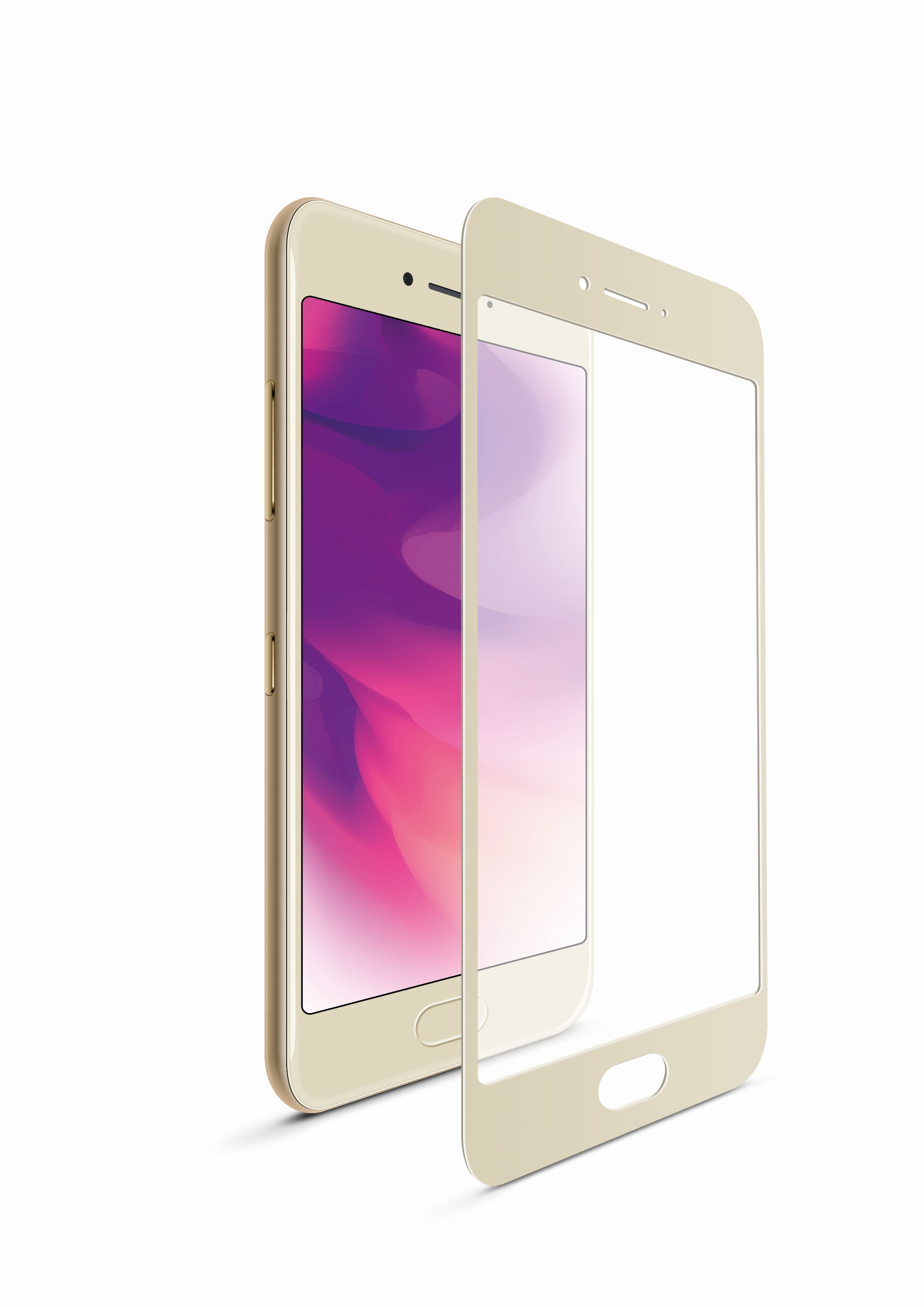 Ochranné tvrzené sklo FIXED Full-Cover pro Huawei Mate 10, přes celý displej, zlaté, 0.33 mm