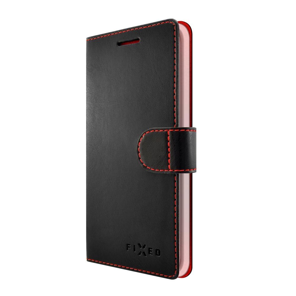 Pouzdro typu kniha FIXED FIT pro LG K10, černé,bez obalu