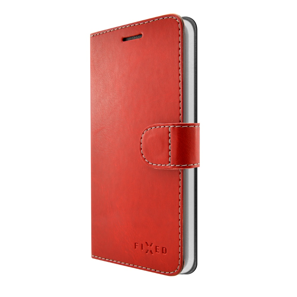 Pouzdro typu kniha FIXED FIT pro Apple iPhone 5/5S/SE, červené,bez obalu