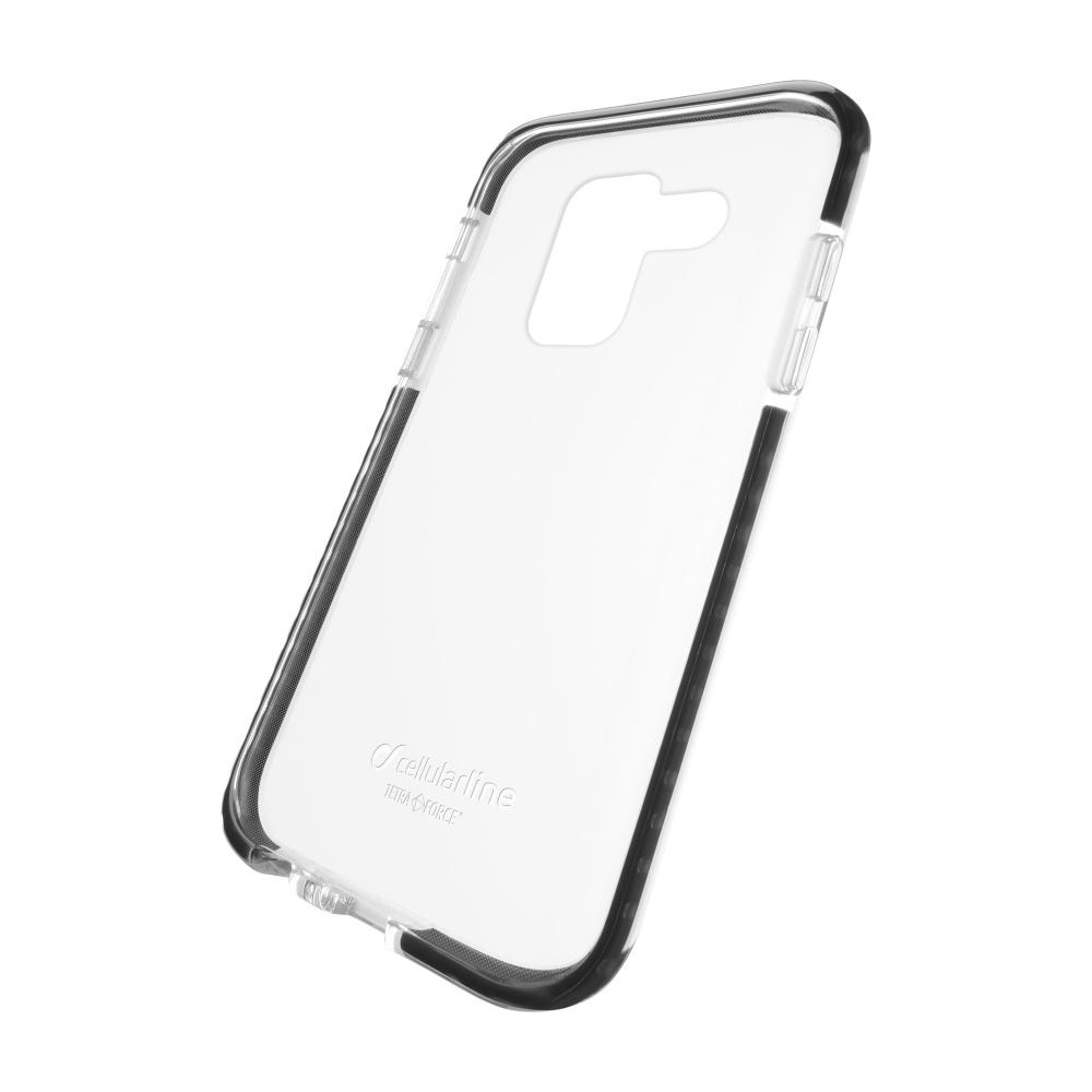 Ultra ochranné pouzdro Cellularline Tetra Force Shock-Twist pro Samsung Galaxy A8 (2018), 2 stupně ochrany, transparentn