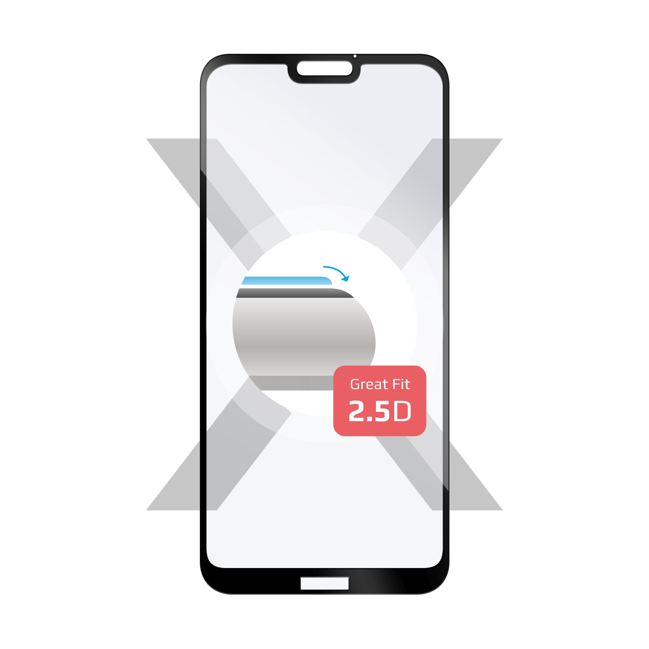 Ochranné tvrzené sklo FIXED Full-Cover pro Huawei P20 Lite, přes celý displej, černé, 0.33 mm