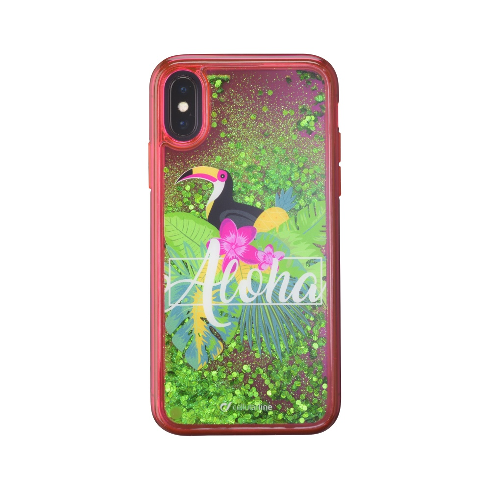 Gelové pouzdro Cellularline Stardust pro Apple iPhone X/XS, motiv Aloha