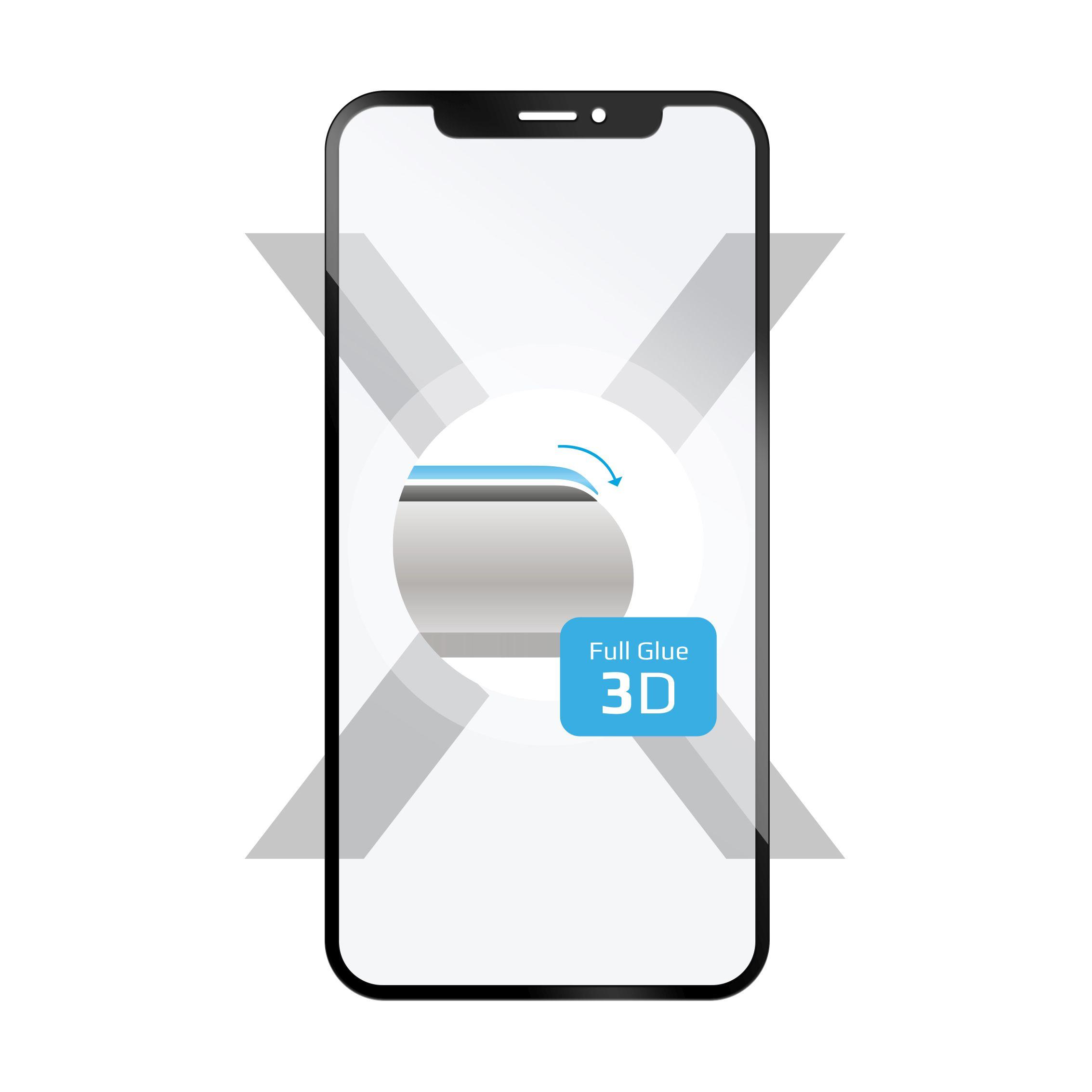 Ochranné tvrzené sklo FIXED 3D Full-Cover pro Samsung Galaxy A6+ (2018), s lepením přes celý displej, černé