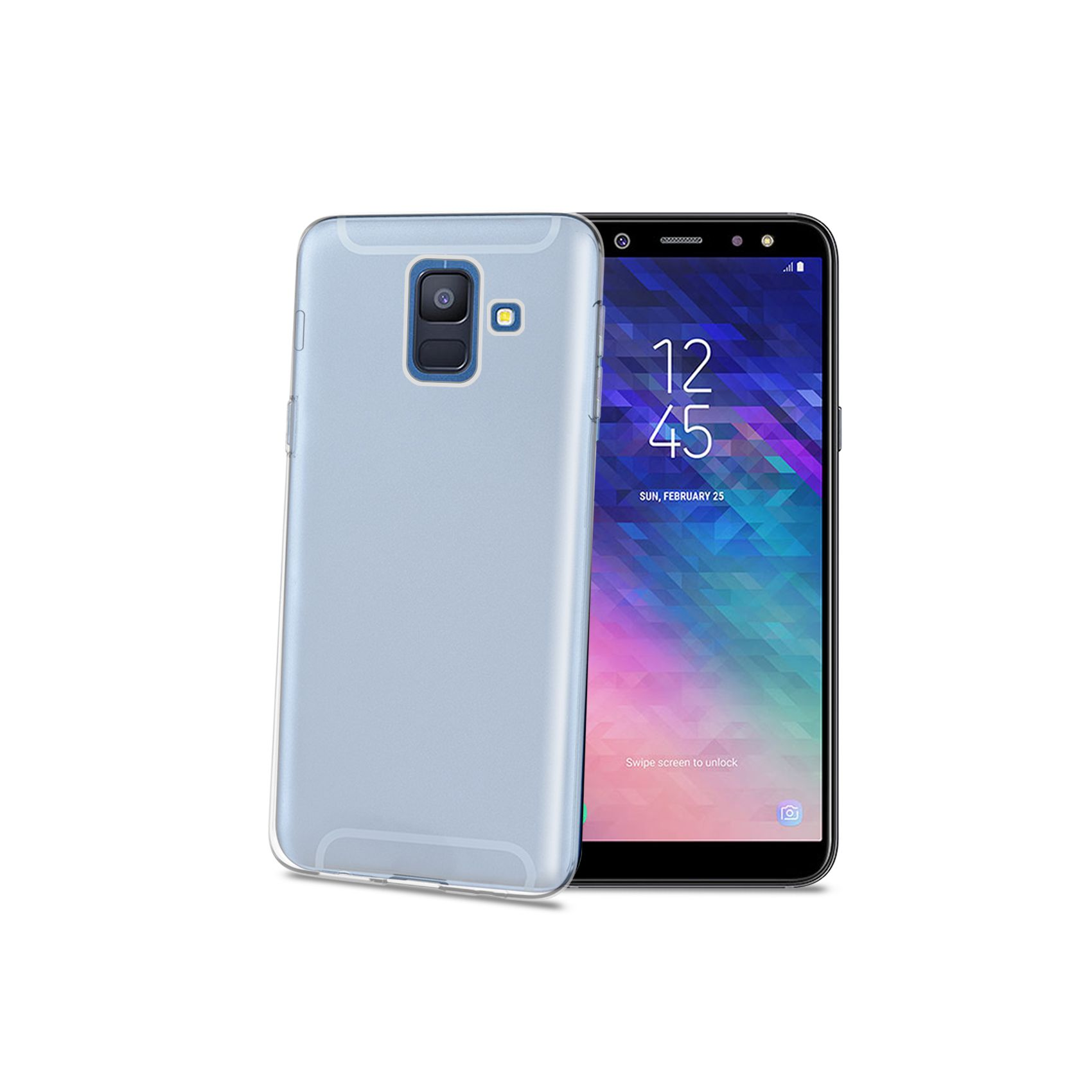TPU pouzdro CELLY Gelskin pro Samsung Galaxy A6 (2018), bezbarvé