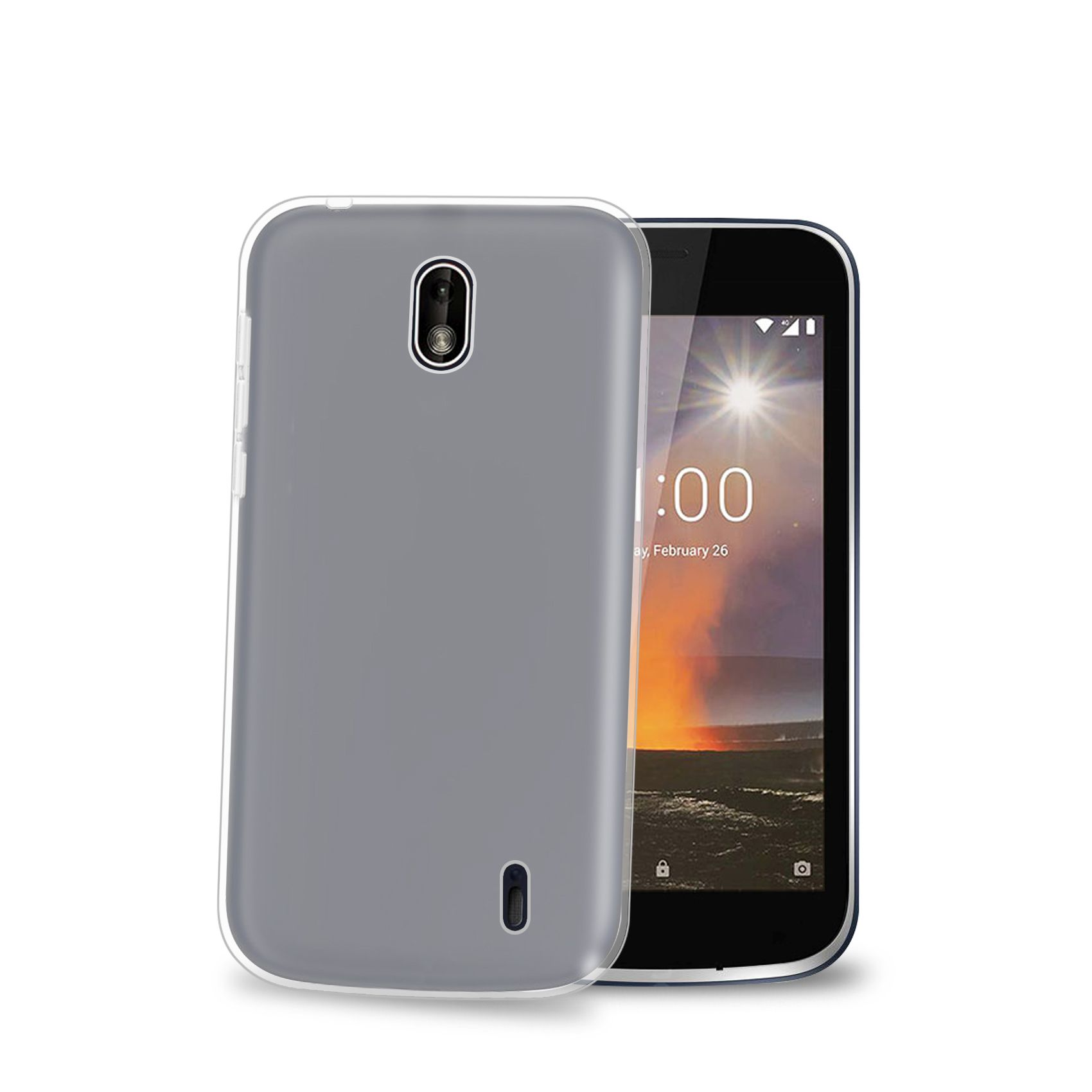 TPU pouzdro CELLY Gelskin pro Nokia 1, bezbarvé