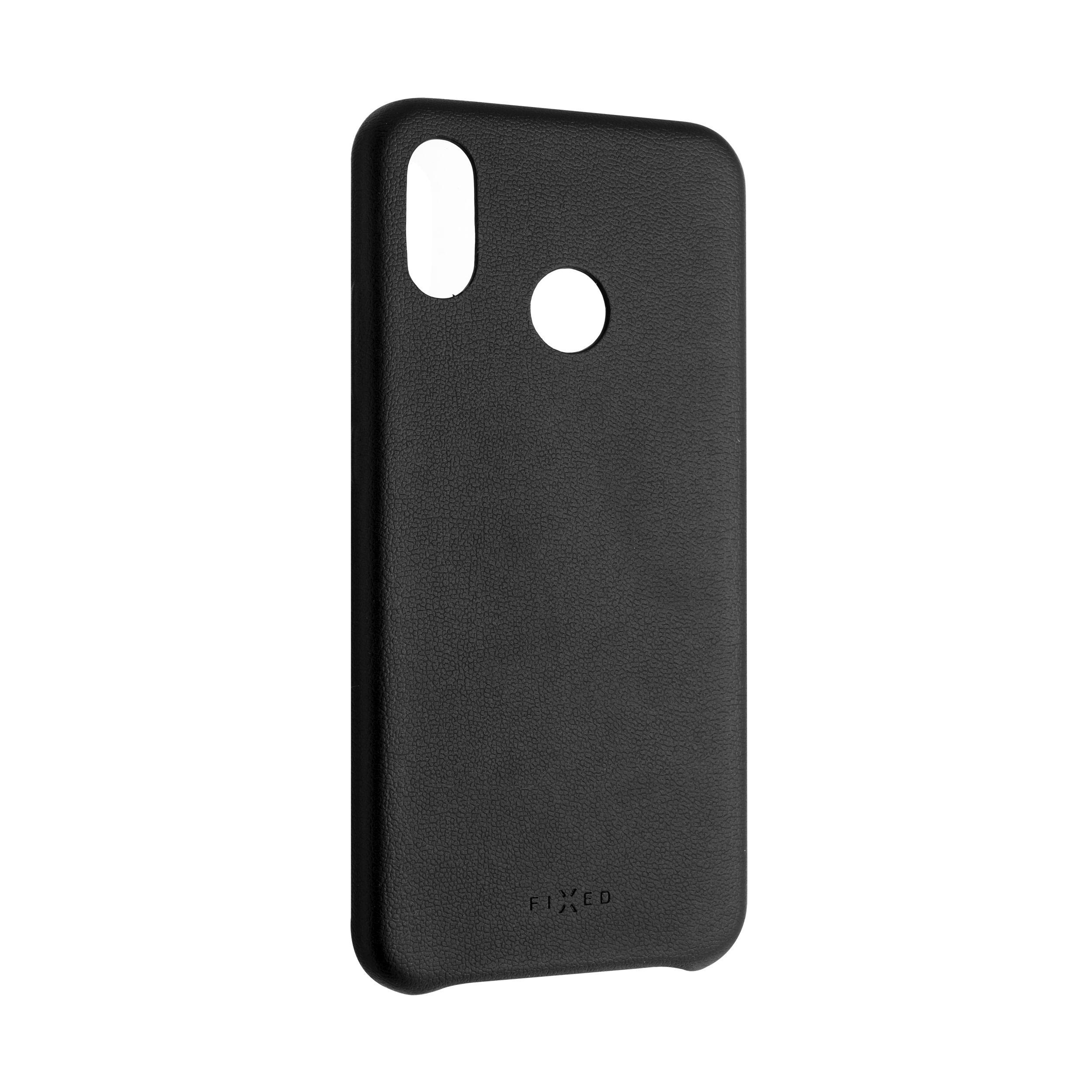 Zadní kryt FIXED Tale pro Huawei P20 Lite, PU kůže, černý
