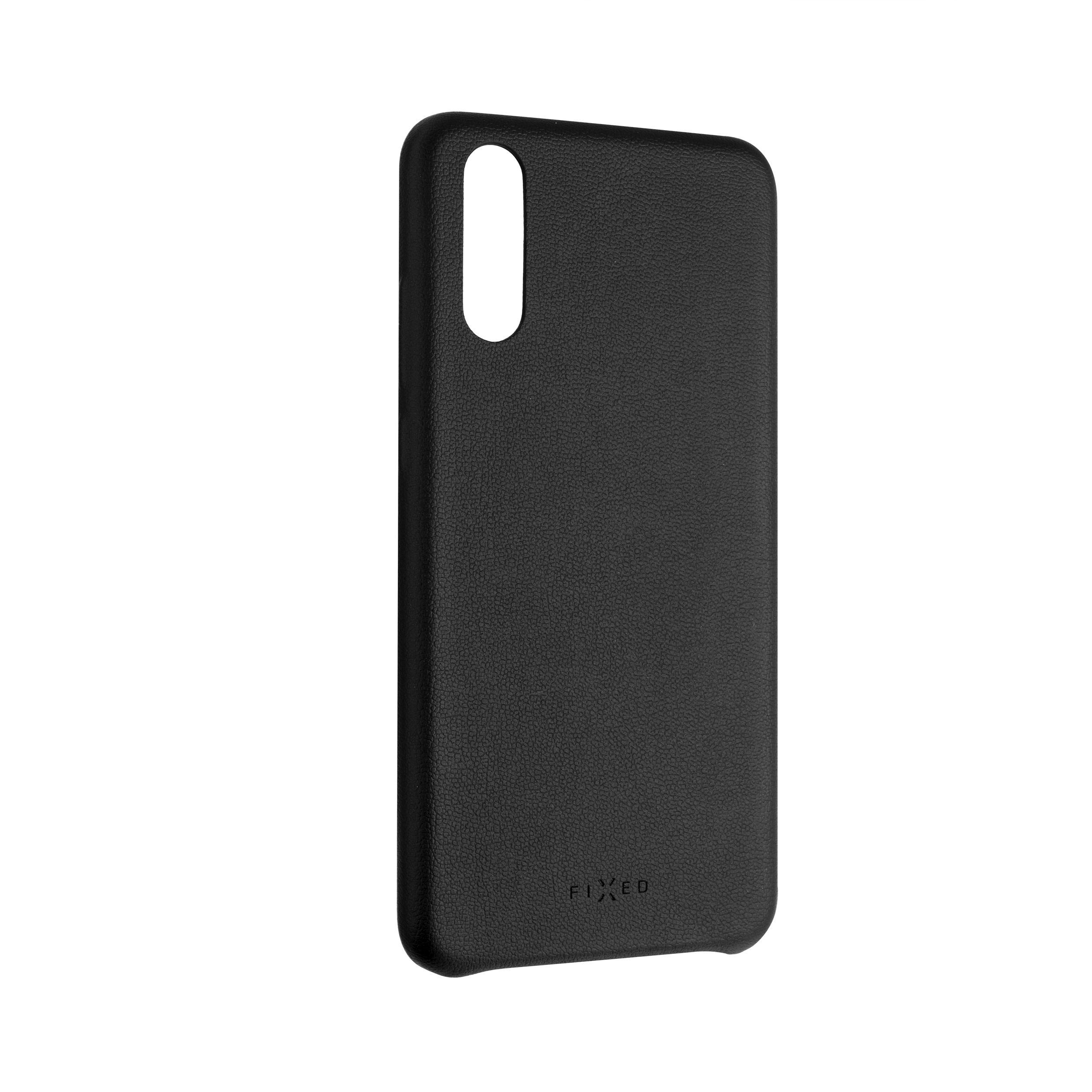 Zadní kryt FIXED Tale pro Huawei P20, PU kůže, černý