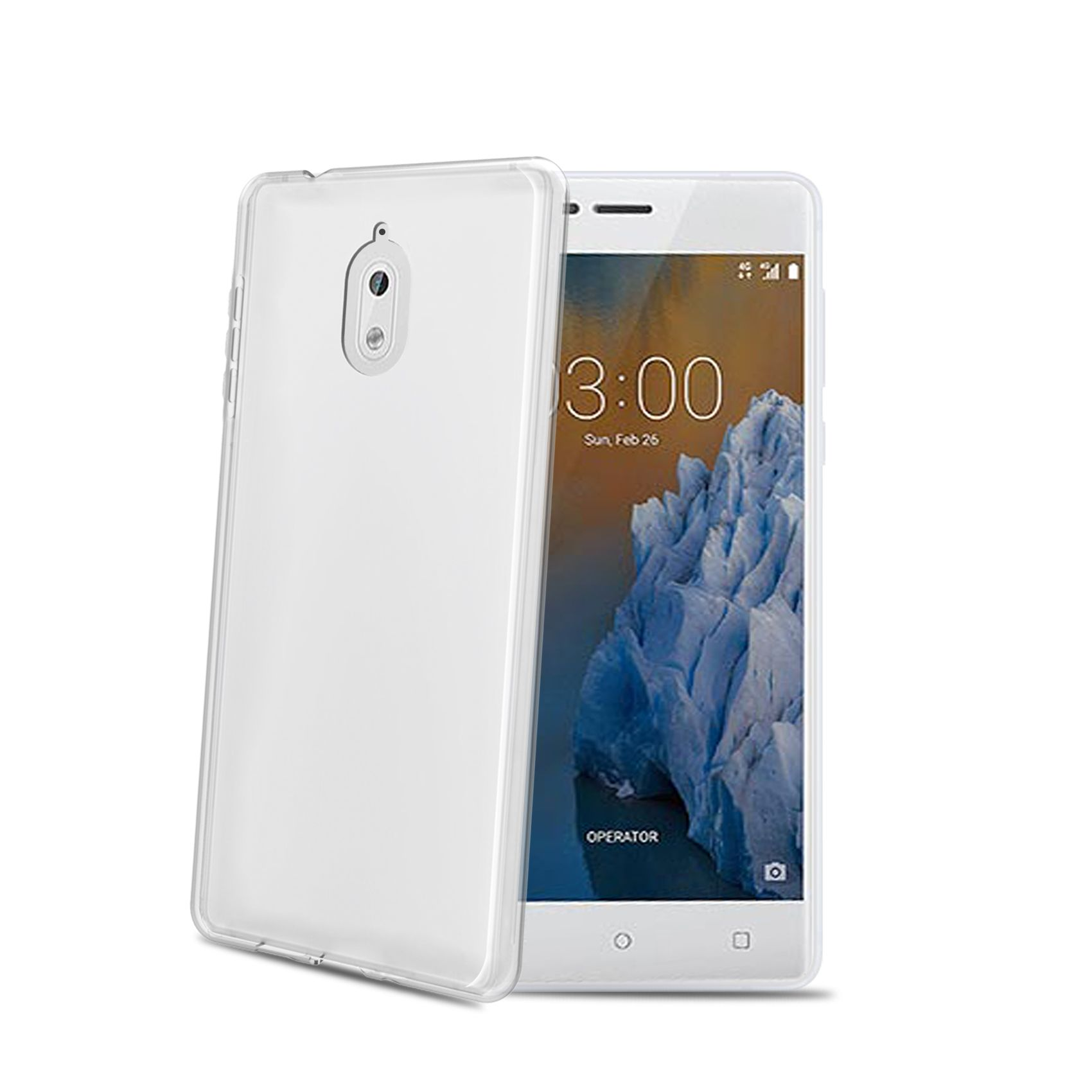 TPU pouzdro CELLY Gelskin pro Nokia 3.1/Nokia 3 (2018), bezbarvé
