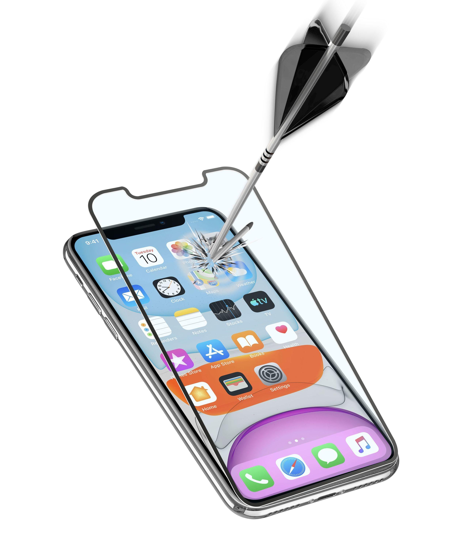 Ochranné tvrzené sklo pro celý displej Cellularline CAPSULE pro Apple iPhone XR/11, černé
