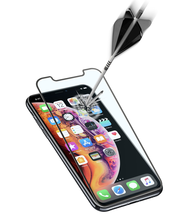 Ochranné tvrzené sklo pro celý displej Cellularline CAPSULE pro Apple iPhone XS Max/11 Pro Max, černé