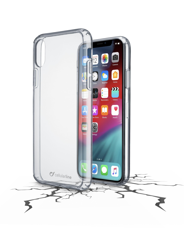 Zadní čirý kryt s ochranným rámečkem Cellularline CLEAR DUO pro Apple iPhone XS Max