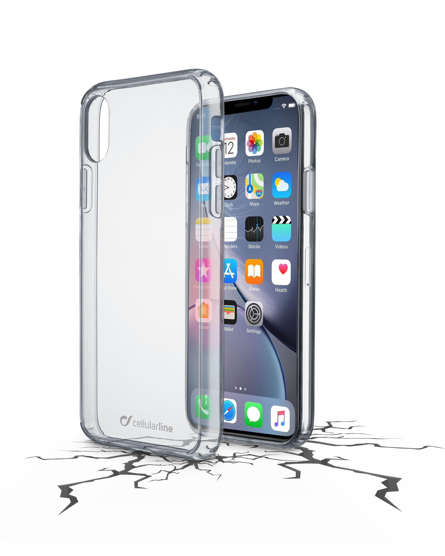 Zadní čirý kryt s ochranným rámečkem Cellularline CLEAR DUO pro Apple iPhone XR