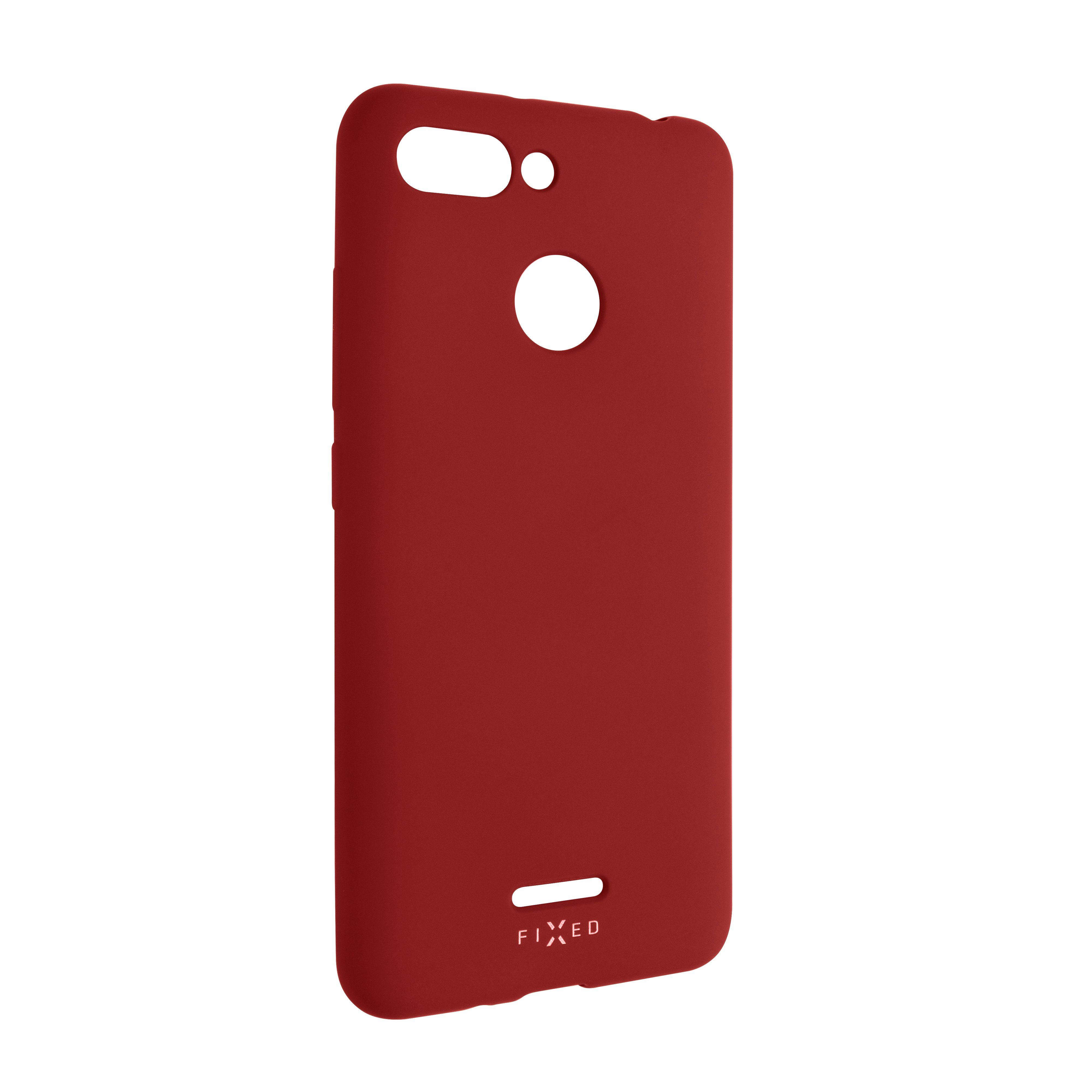 Zadní pogumovaný kryt FIXED Story pro Xiaomi Redmi 6, červený