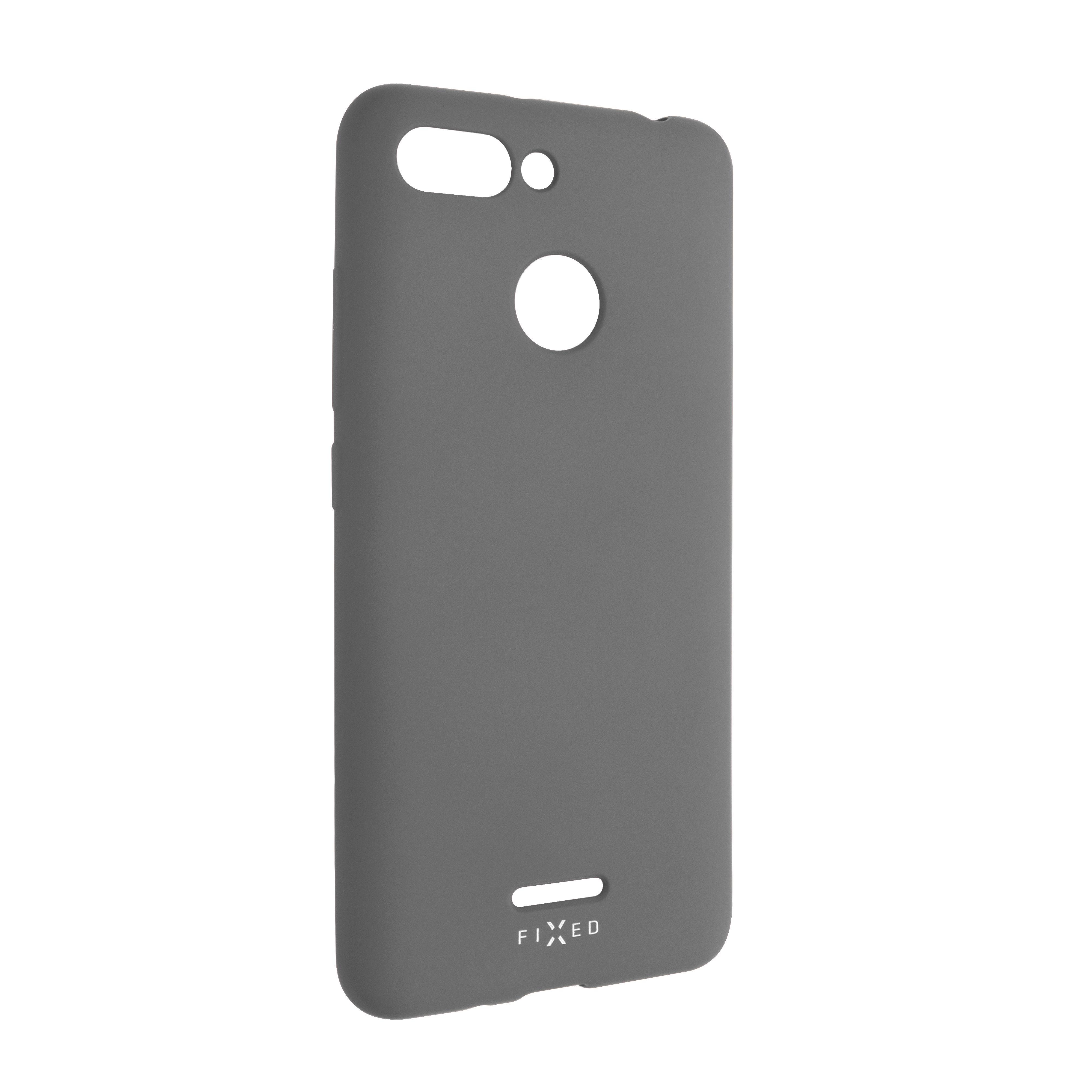 Zadní pogumovaný kryt FIXED Story pro Xiaomi Redmi 6, šedý