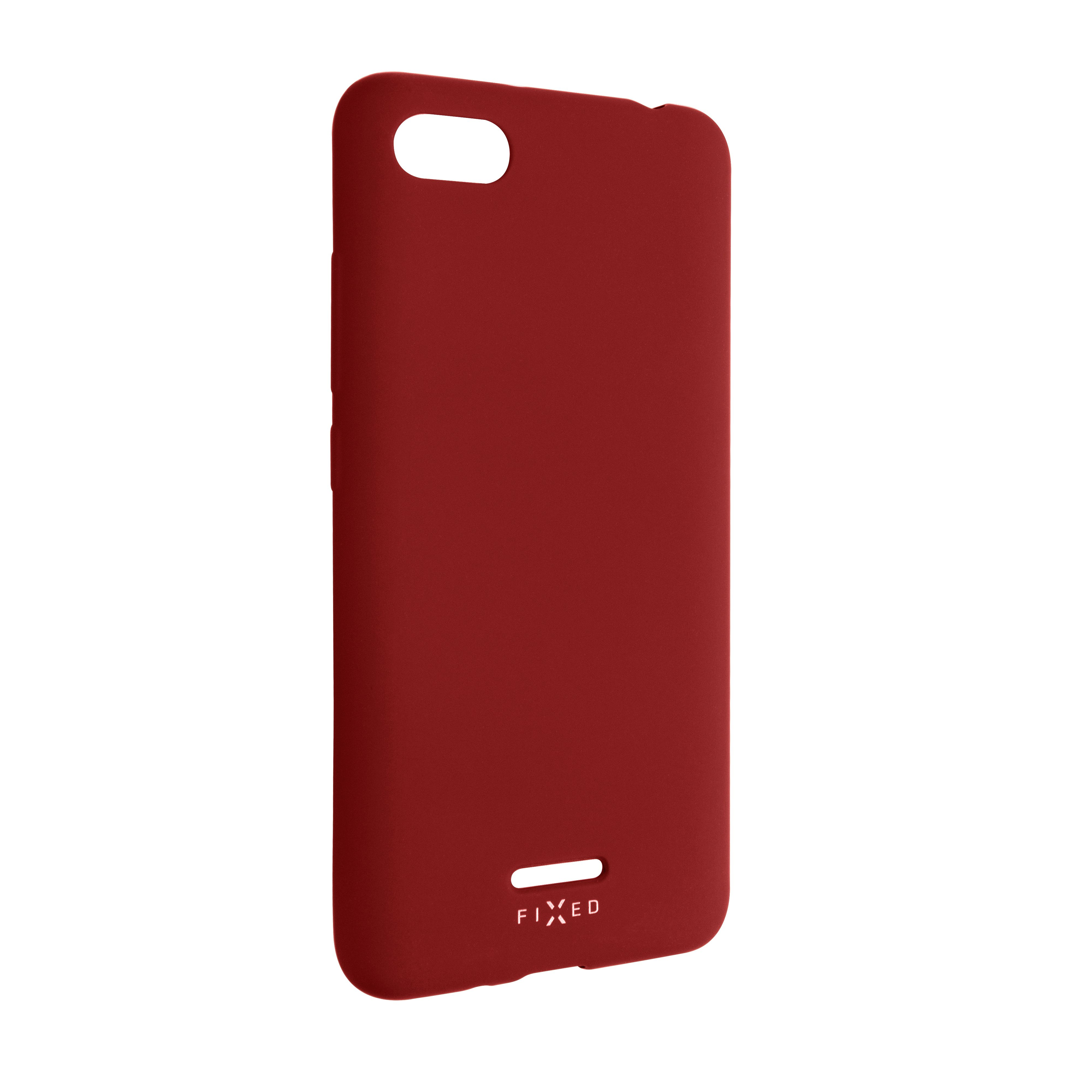 Zadní pogumovaný kryt FIXED Story pro Xiaomi Redmi 6A, červený