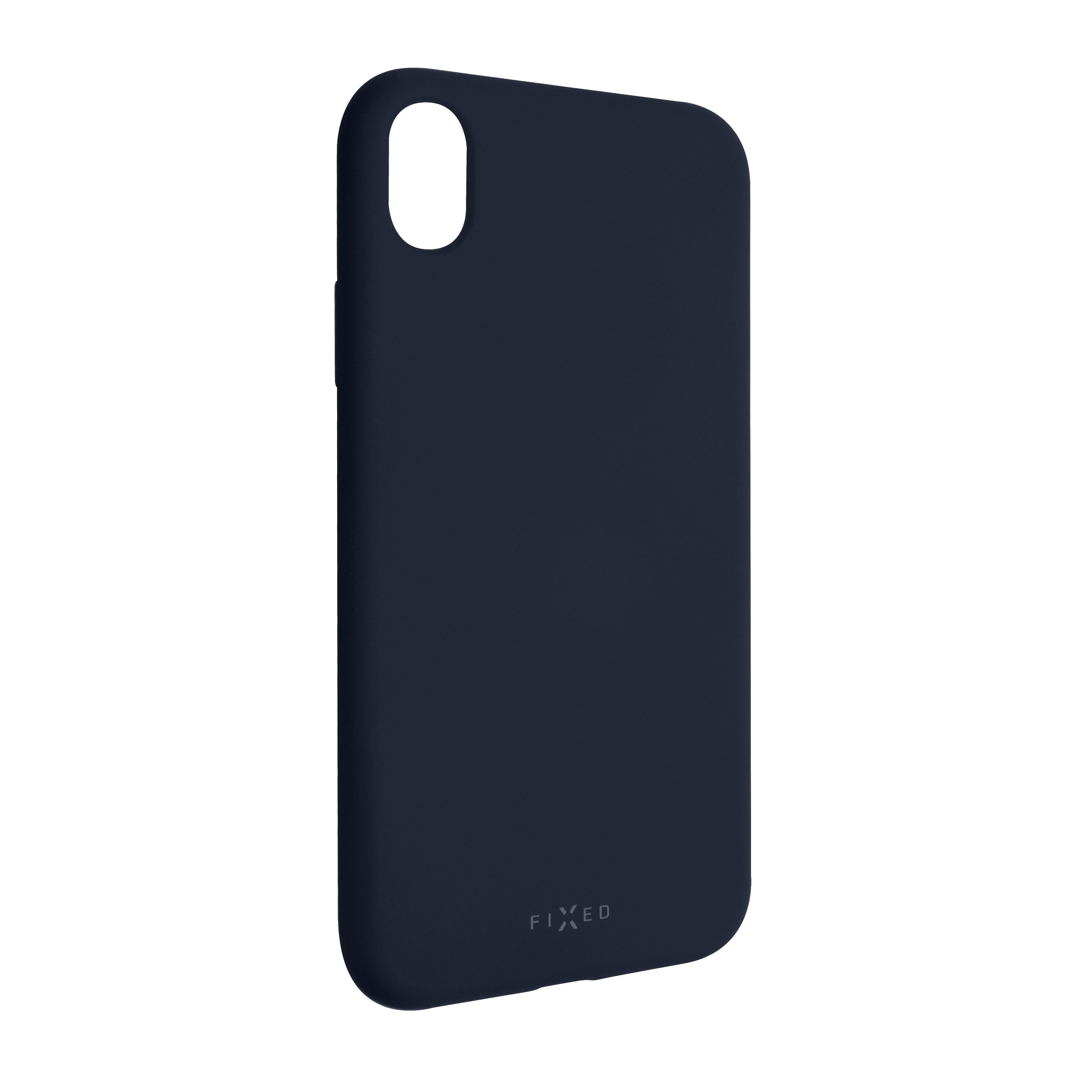 Zadní pogumovaný kryt FIXED Story pro Apple iPhone XR, modrý