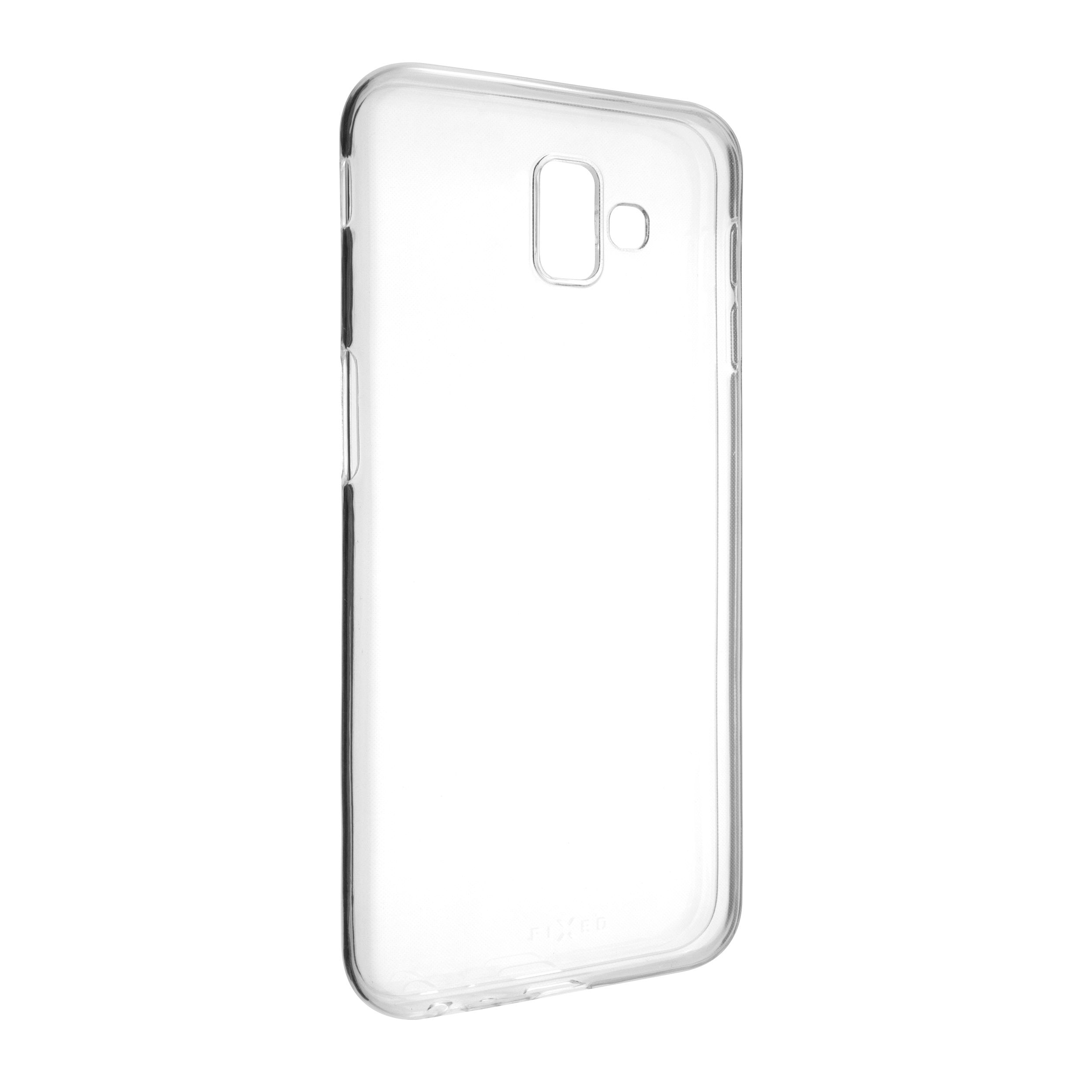 Ultratenké TPU gelové pouzdro FIXED Skin pro Samsung Galaxy J6+ (2018), 0,6 mm, čiré