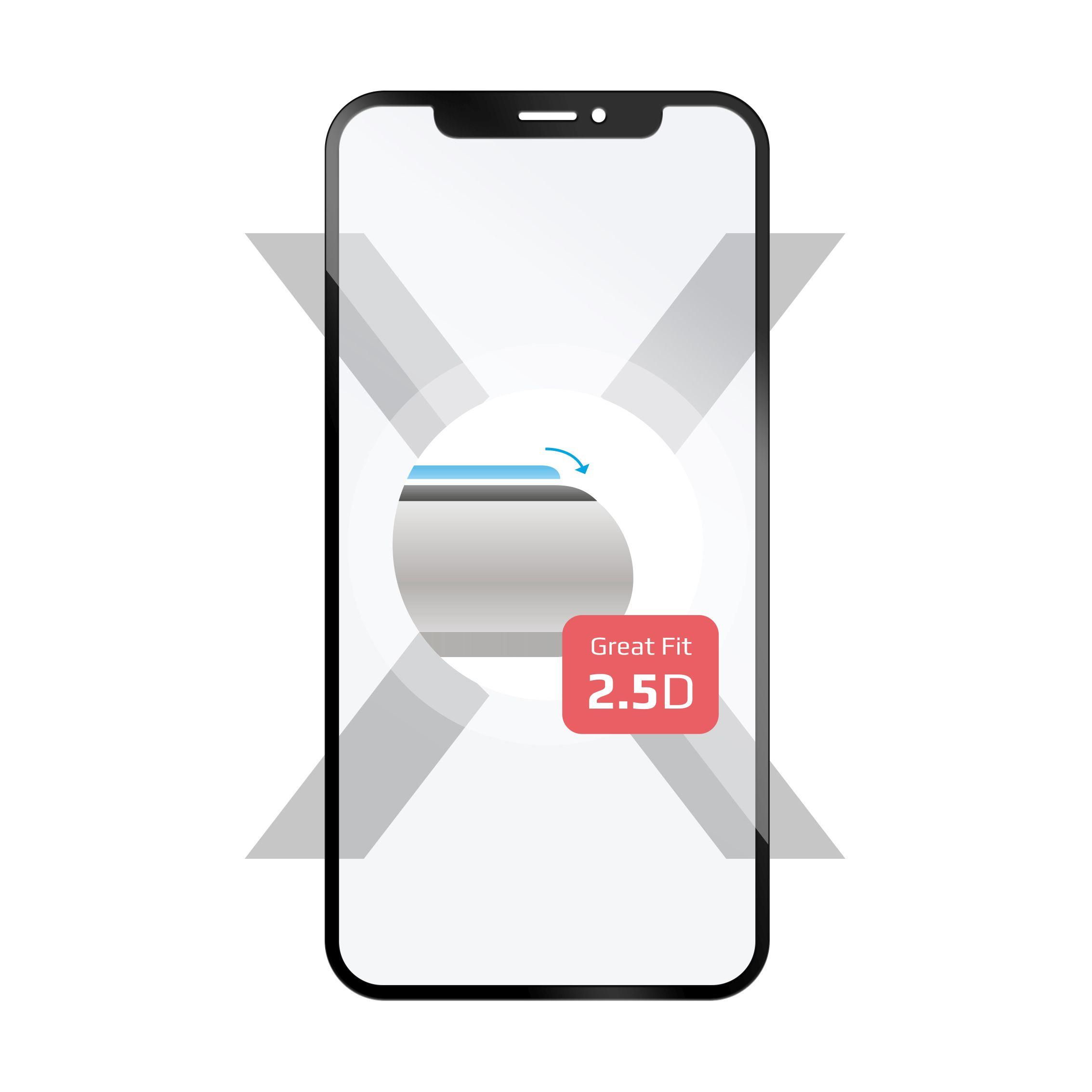 Ochranné tvrzené sklo FIXED Full-Cover pro Huawei Y9 (2019), přes celý displej, černé, 0.33 mm