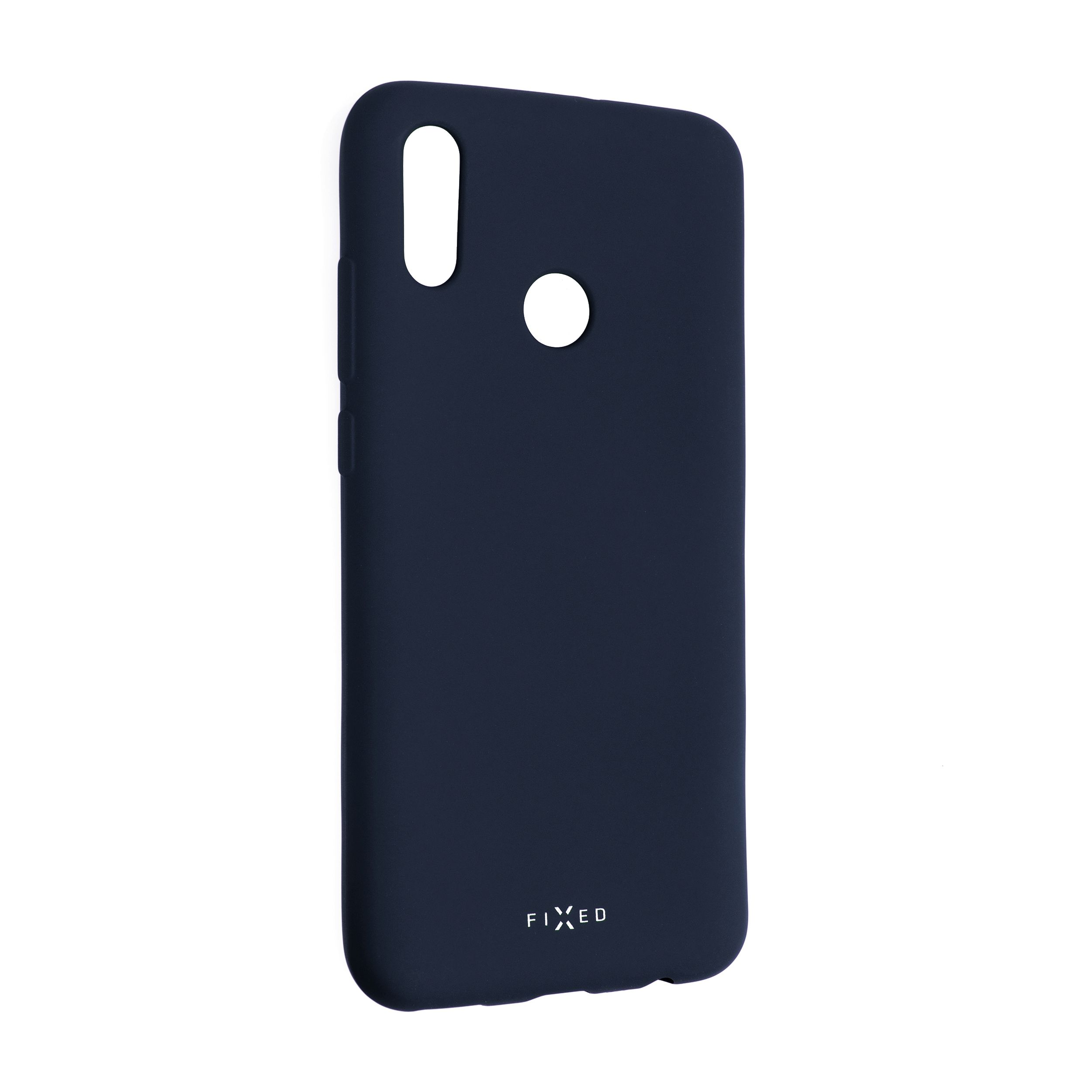 Zadní pogumovaný kryt FIXED Story pro Huawei P Smart (2019), modrý