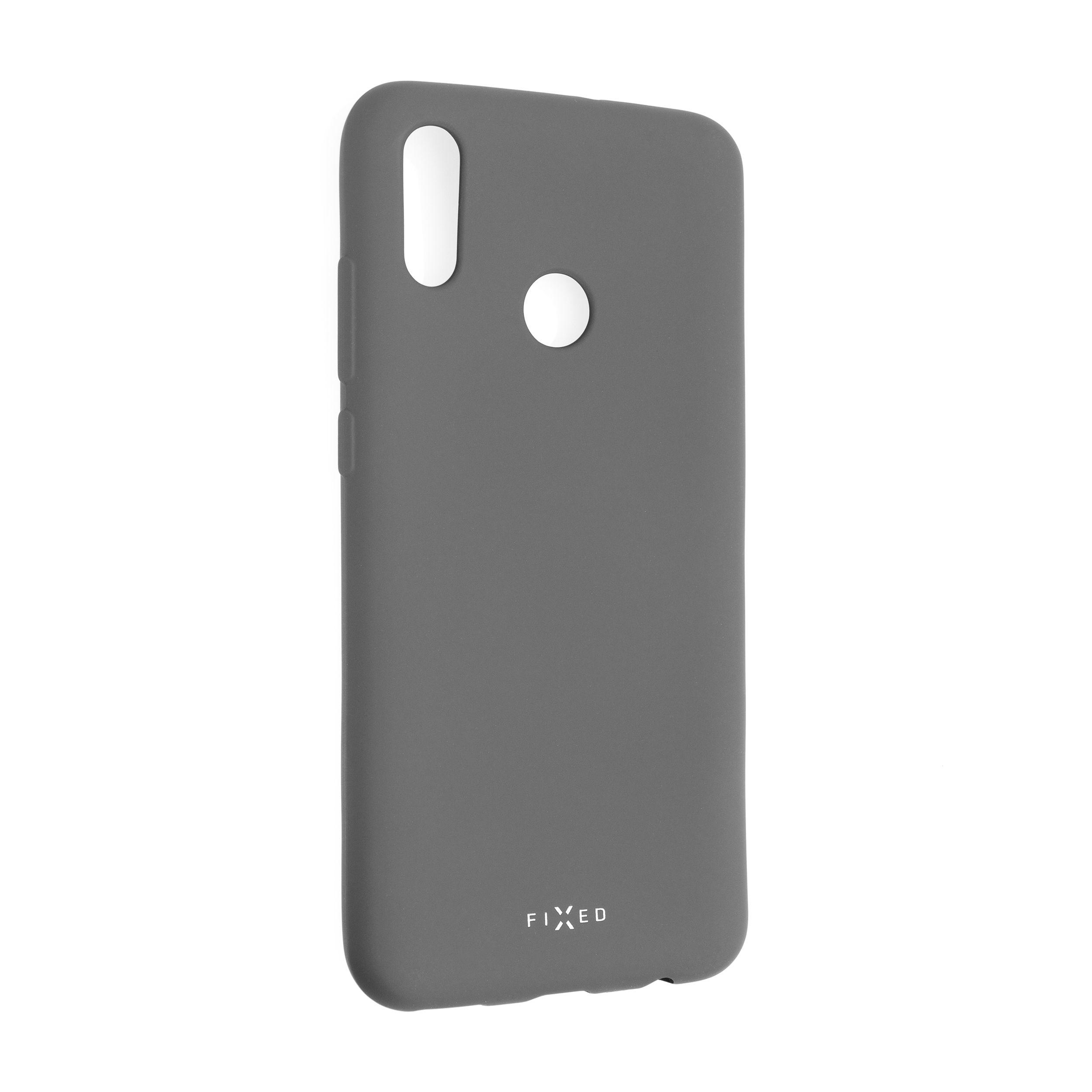Zadní pogumovaný kryt FIXED Story pro Huawei P Smart (2019), šedý