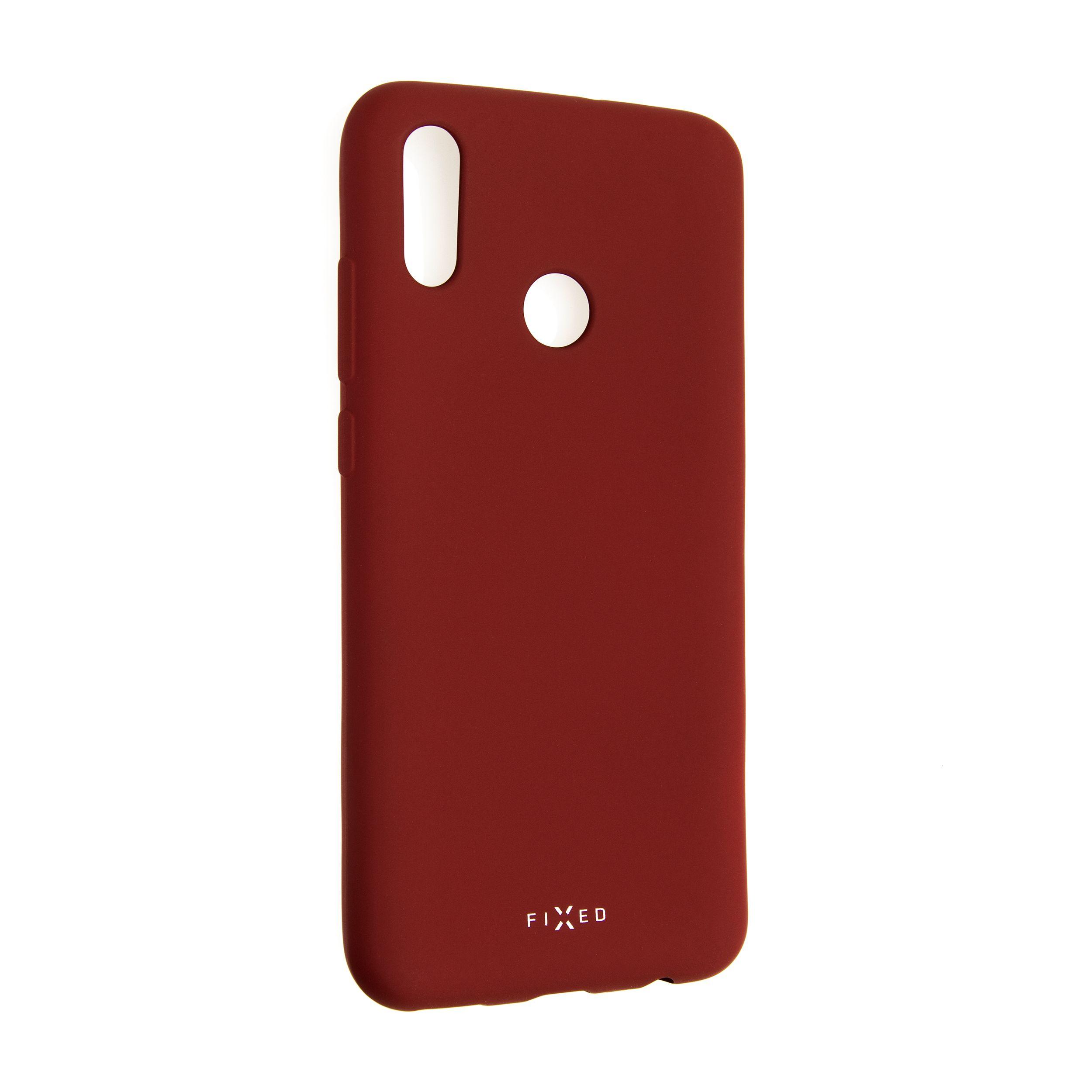 Zadní pogumovaný kryt FIXED Story pro Huawei P Smart (2019), červený