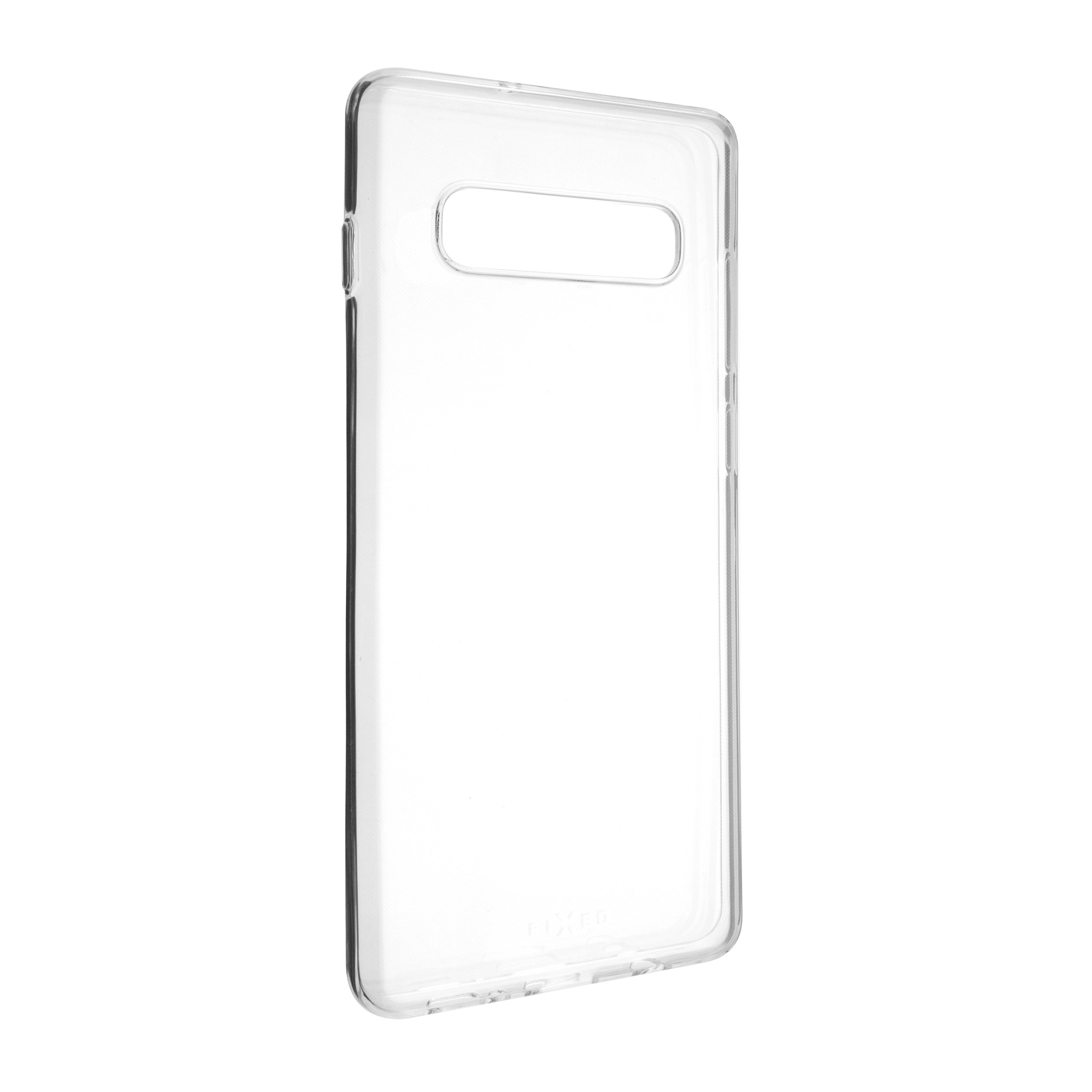 Ultratenké TPU gelové pouzdro FIXED Skin pro Samsung Galaxy S10+, 0,6 mm, čiré