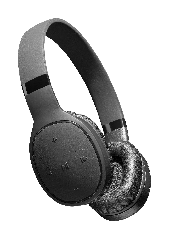 Bluetooth sluchátka Cellularline KOSMOS s extra silnými basy, AQL certifikace, černá