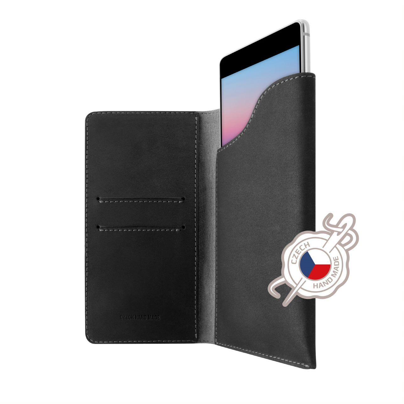 Kožené pouzdro FIXED Pocket Book pro Apple iPhone XR/11, šedé