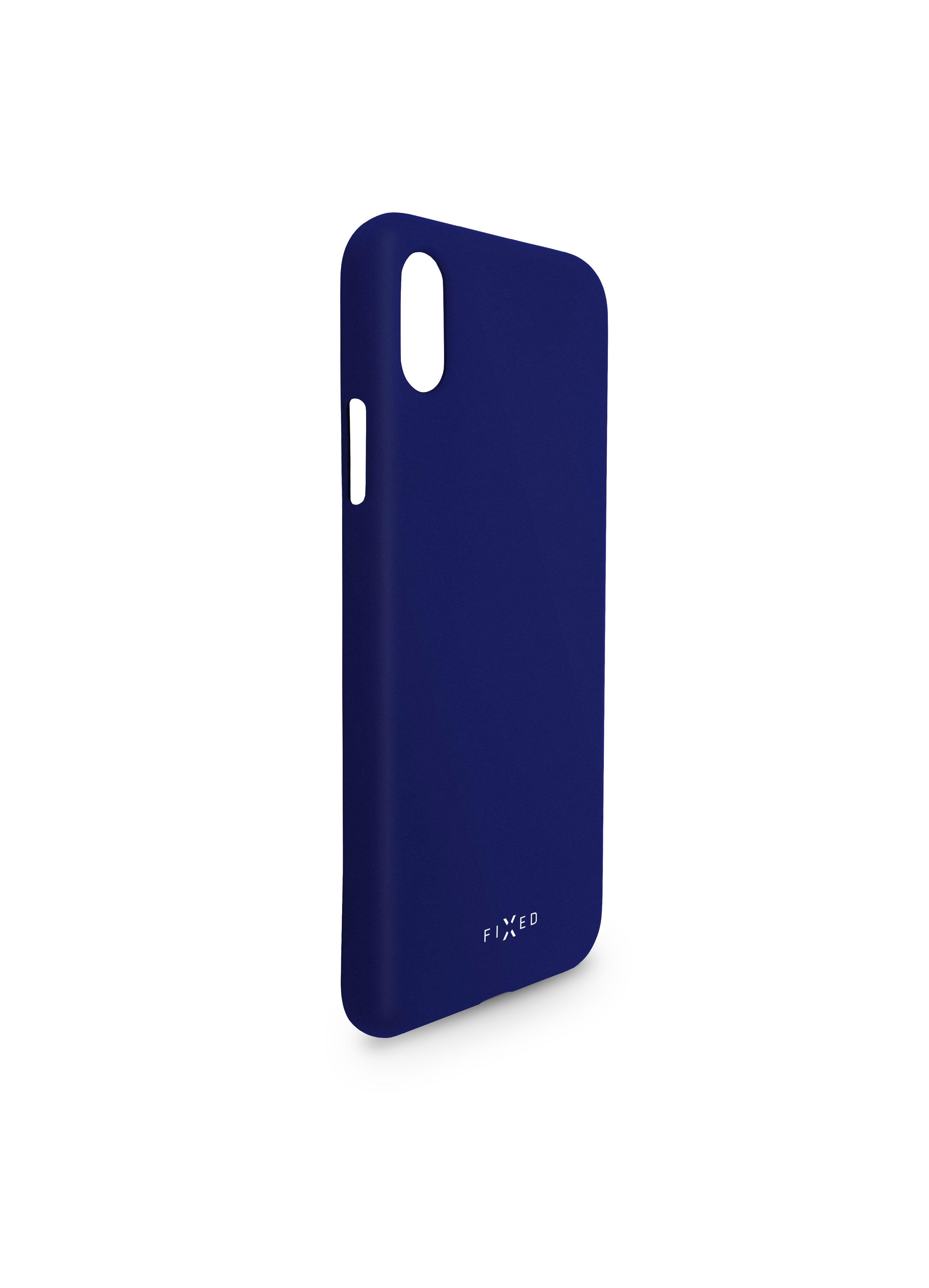 Zadní pogumovaný kryt FIXED Story pro Huawei P30, modrý